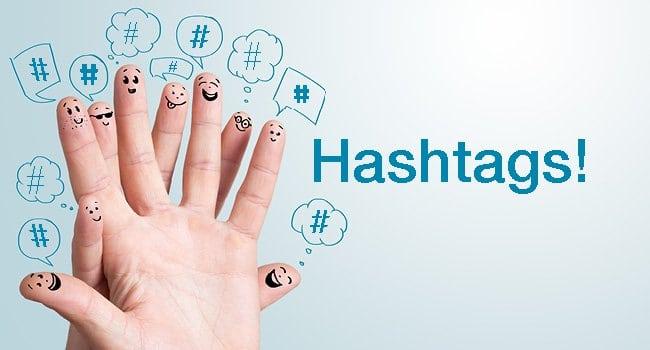 Hashtag thương hiệu kết hợp với quà tặng