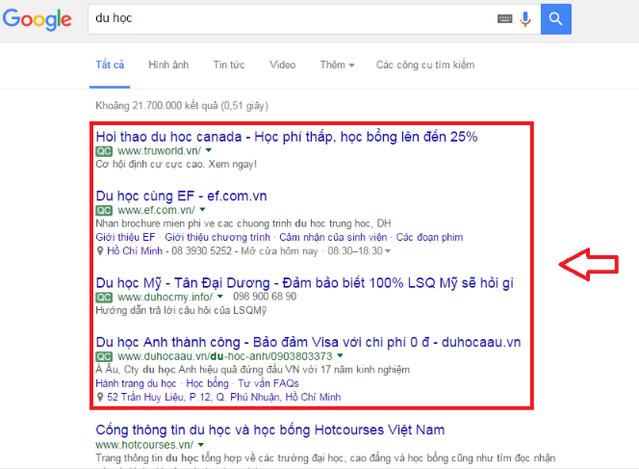 Hình thức quảng cáo Google Adword - Website Marketing là gì