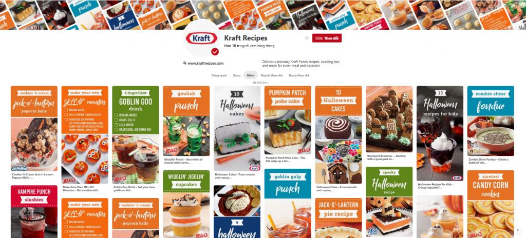 Chiến lược Marketing của Kraft Foods-Printerest là kênh truyền thông chính