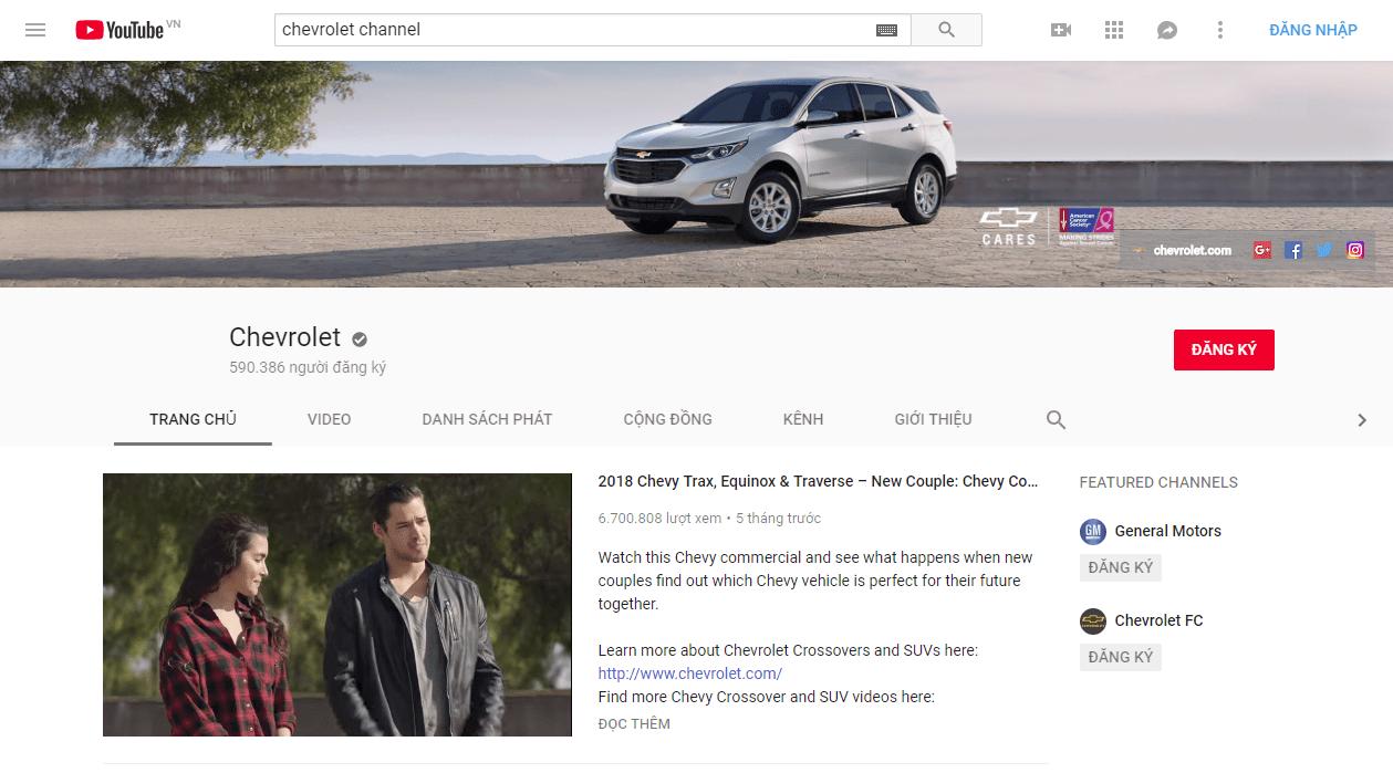 Chiến lược Marketing của Chevrolet- Quảng cáo TVC