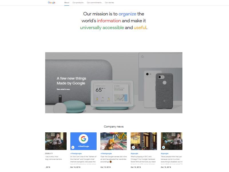 Profile công ty mẫu từ Google