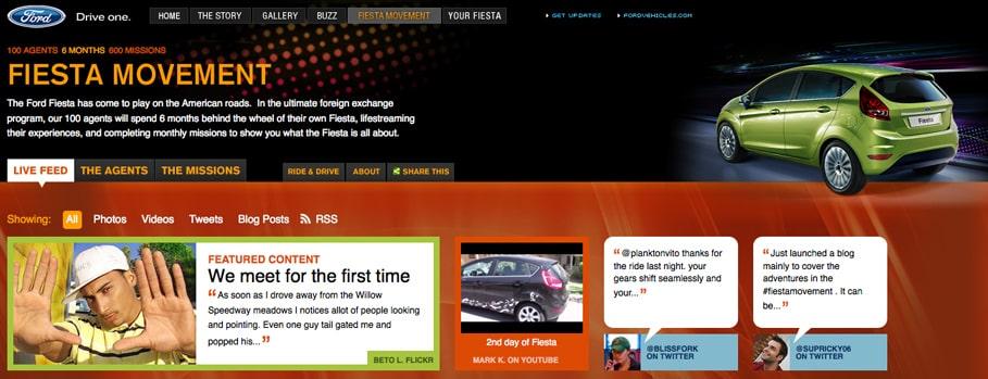 Chiến lược marketing của Ford- Đầu tư vào website