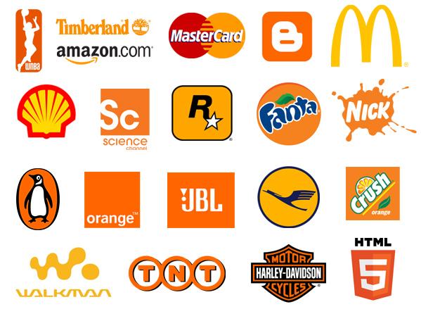 màu sắc trong thương hiệu - màu cam
