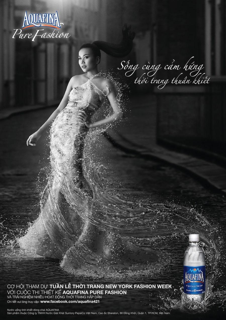 Đầu tư truyền thông- Aquafina kết hợp với Aquafina pure fashion