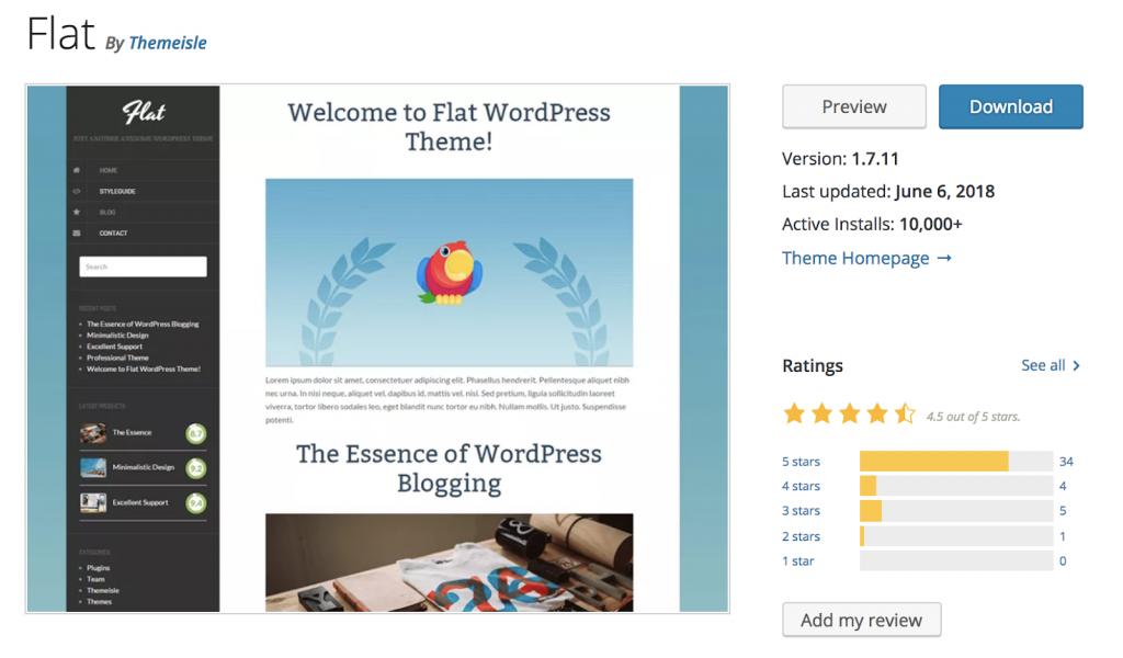 Flat - Theme wordpress miễn phí đơn giản đẹp nhất