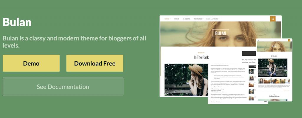 bulan - Theme wordpress cá nhân miễn phí tốt nhất 2020