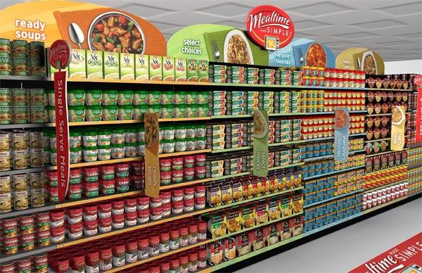 thiết kế bao bì tác động lên kệ bán hàng tại siêu thị