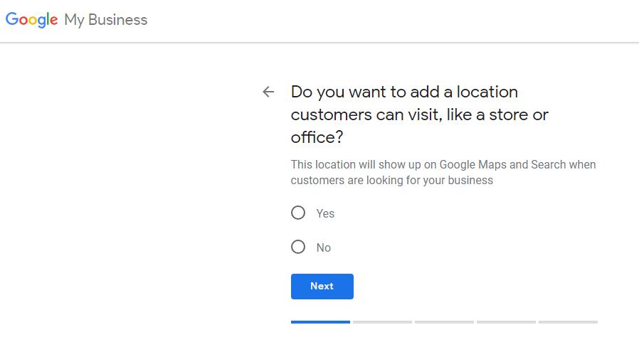 Cài đặt vị trí trên google business