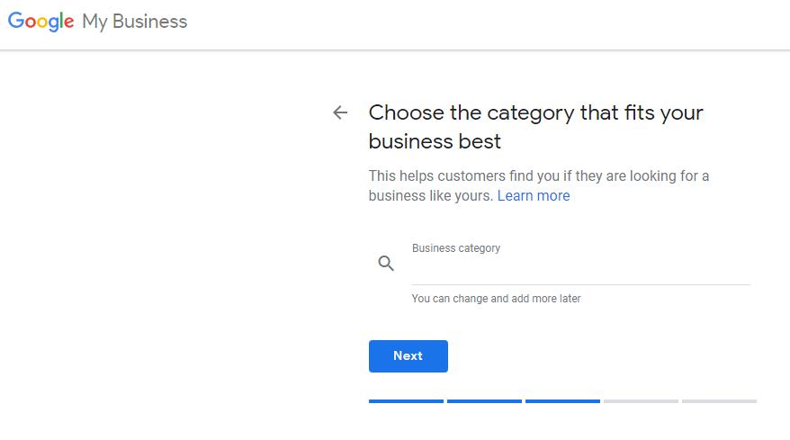 Chọn danh mục phù hợp nhất với doanh nghiệp của bạn