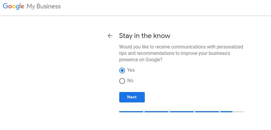 Xác nhận thông tin liên lạc