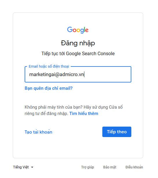 cách cài đặt Google Search Console 02