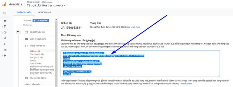 cách cài đặt google Analytics cho wordpress 07
