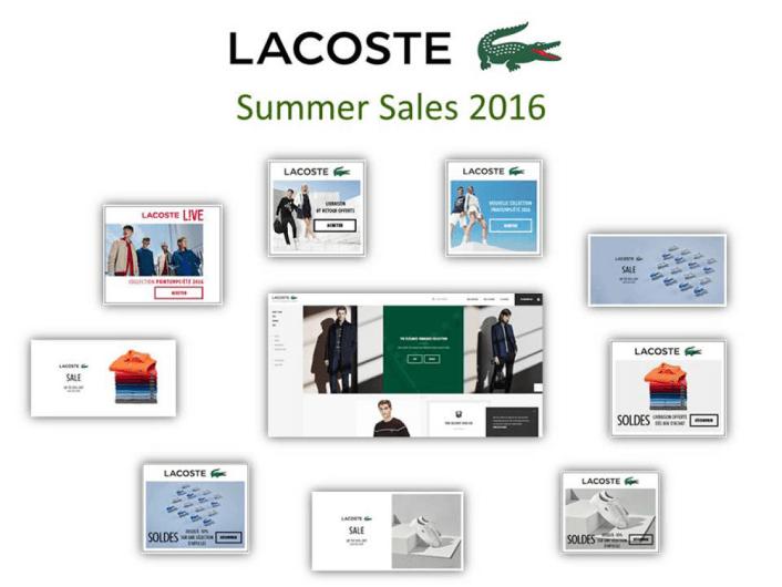 Programmatic advertising là gì? Chiến dịch bán hàng mùa hè vào năm 2016 của Lacoste đã giành được giải đồng quảng cáo lập trình tốt nhất năm do DMA bình chọn