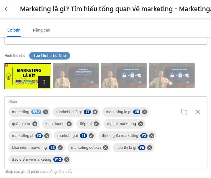seo video youtube: Tối ưu thẻ tag cho video