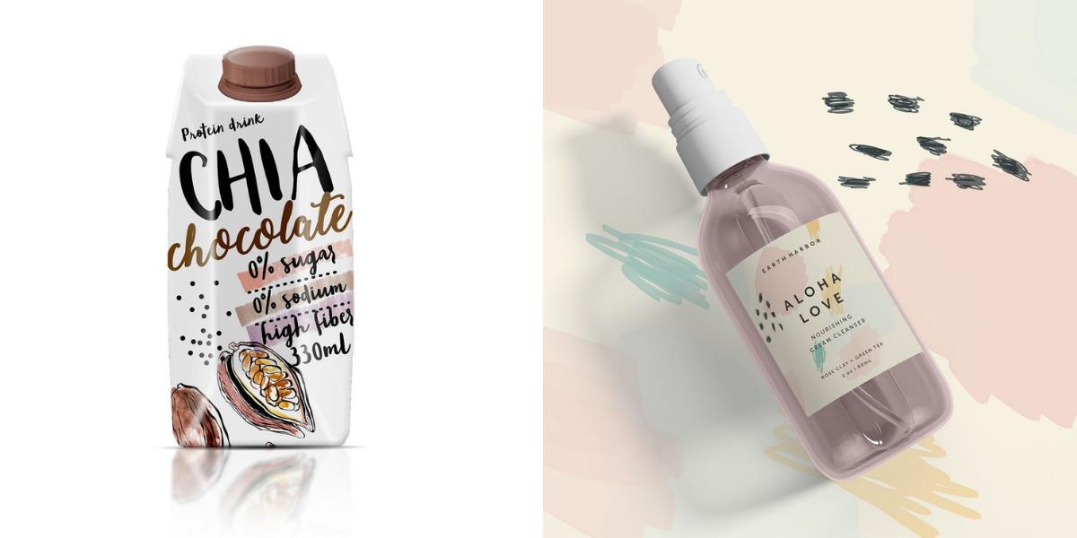 Ý tưởng thiết kế bao bì sản phẩm năm 2019 - Bảng màu nude gần như xuất hiện trong hầu hết các thiết kế hiện nay