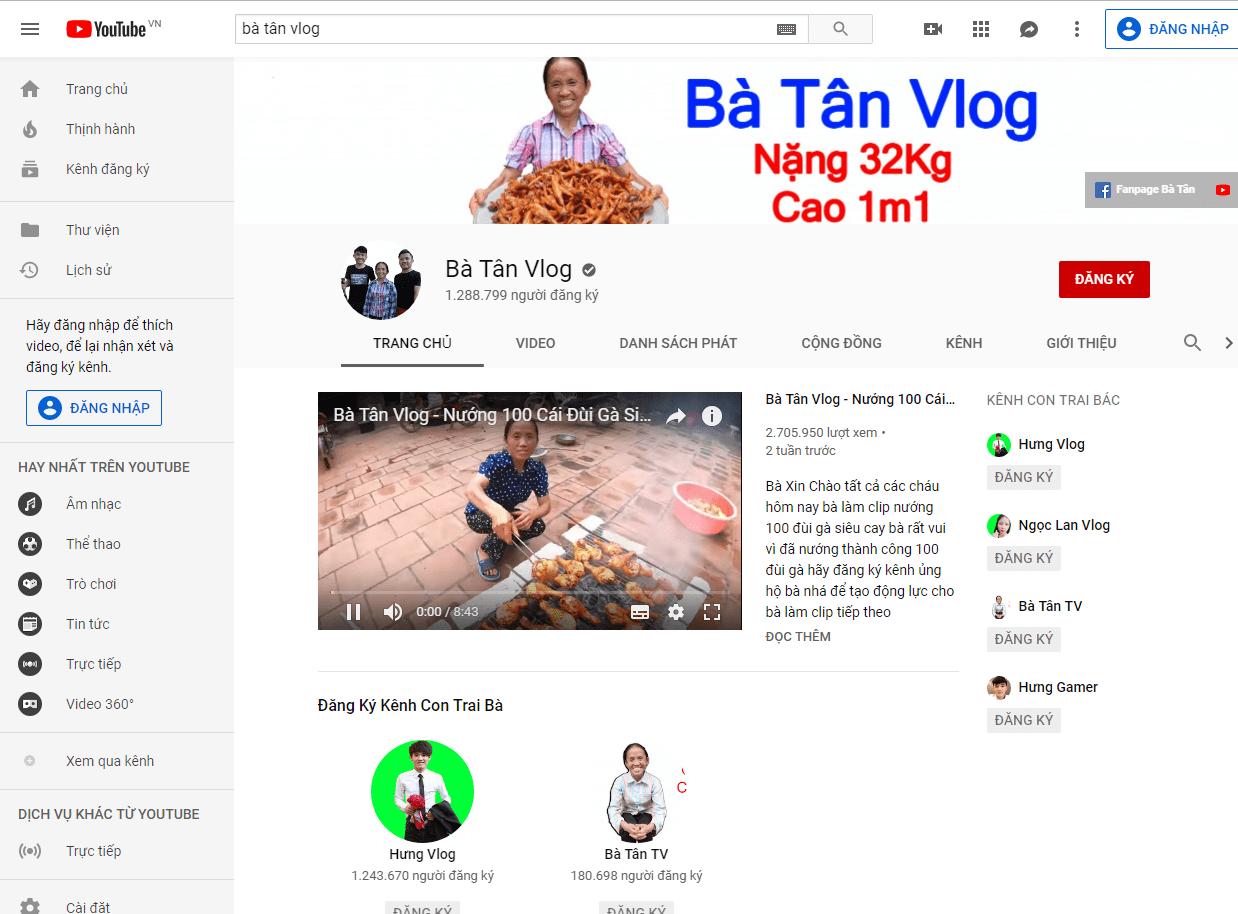Bà Tân Vlog là ai?