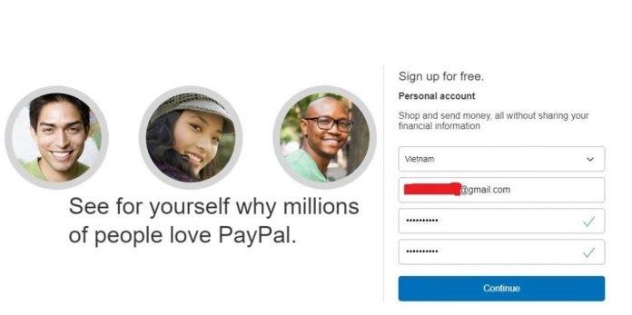 Cách đăng ký tài khoản Paypal 1