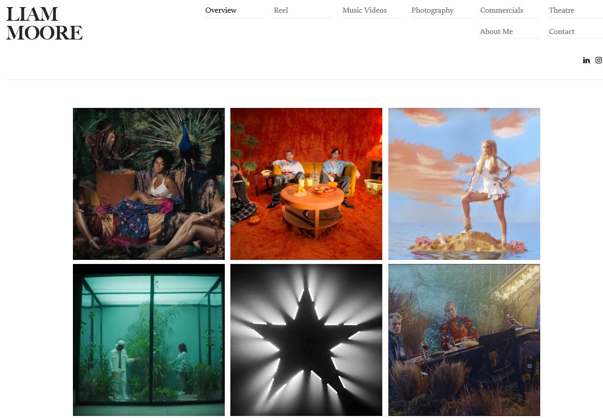 Website Portfolio là gì? Mẫu Portfolio của Liam Moore