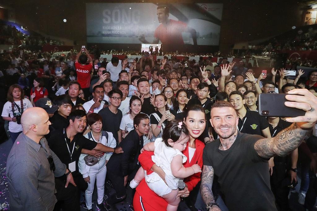 Beckham truyền cảm hứng lối sống lành mạnh tới Việt Nam