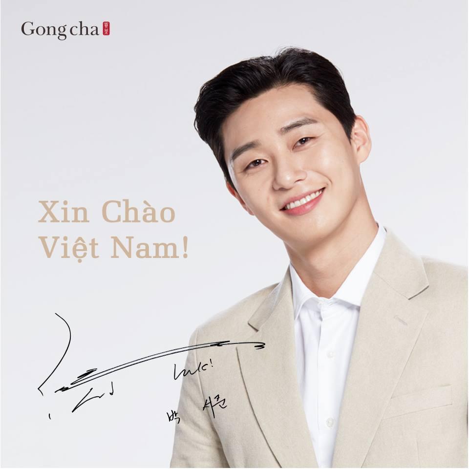 Park Seo Jun cũng là đại sứ thương hiệu Gongcha