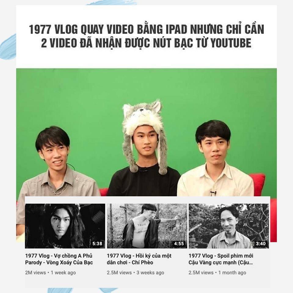 1977 Vlog là ai? Chỉ cần 2 video ẵm luôn nút bạc Youtube