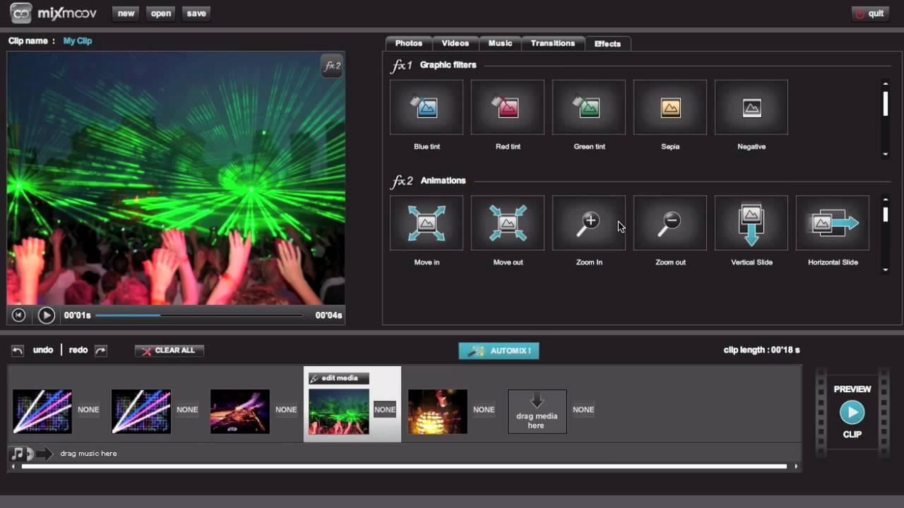 Mixmoov - website cắt ghép, chỉnh sửa video online dành cho doanh nghiệp