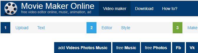 Movie Maker Online - website chỉnh sửa video online toàn diện