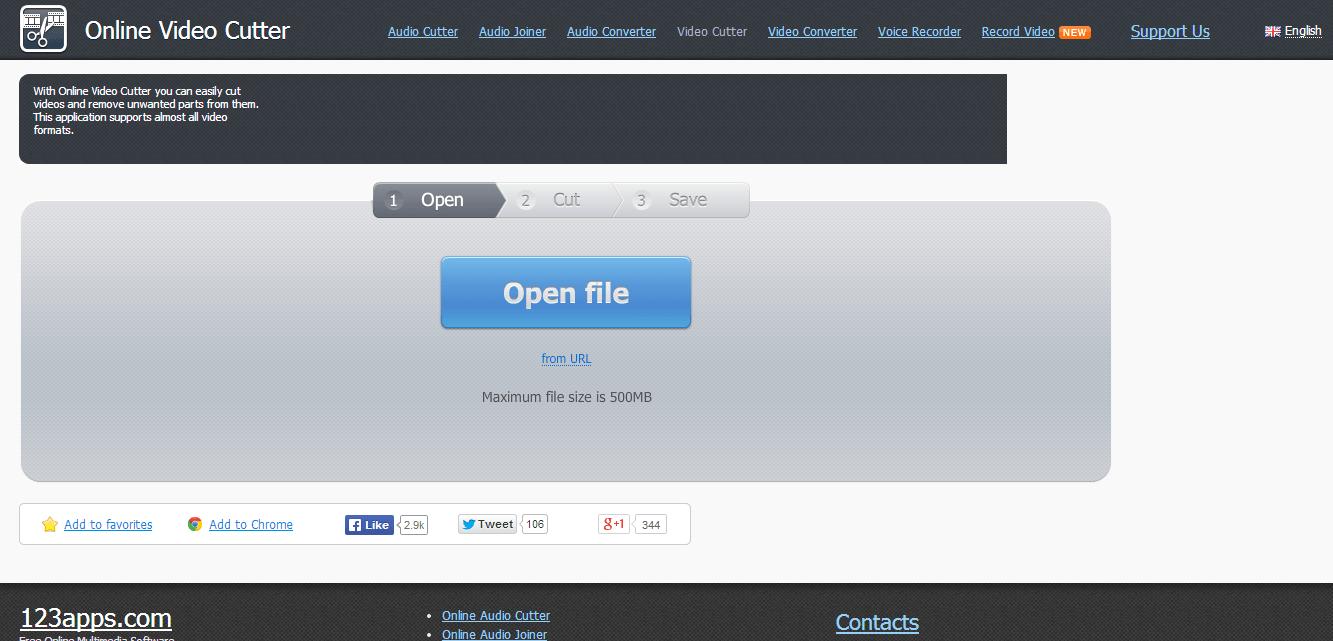 Online Video Cutter - website cắt ghép, chỉnh sửa video online tốt nhất