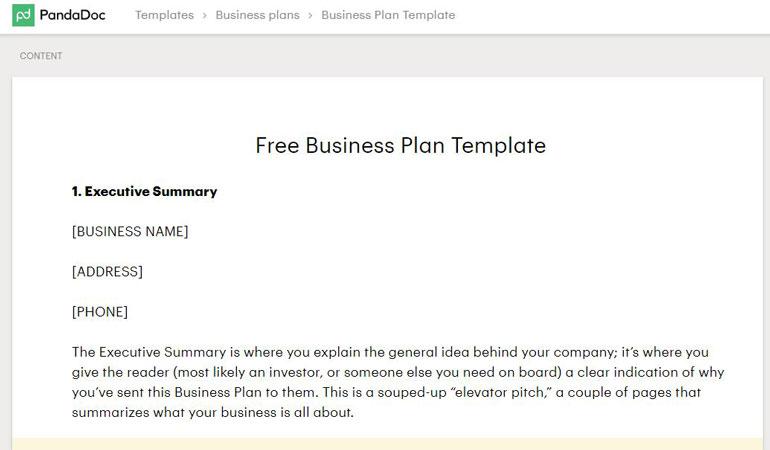3 mẫu báo cáo kế hoạch kinh doanh 1