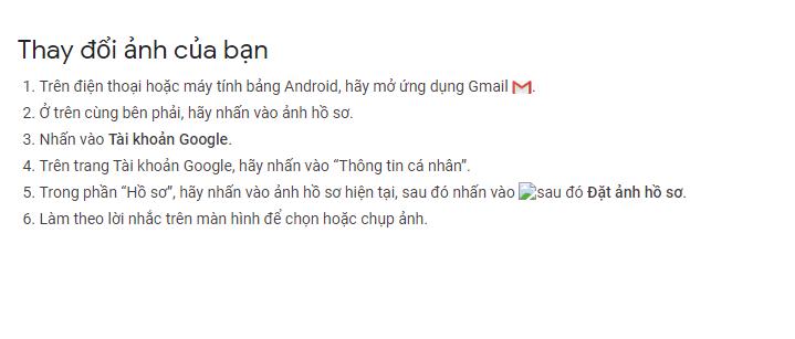 Hướng dẫn thay đổi ảnh đại diện email trên Android