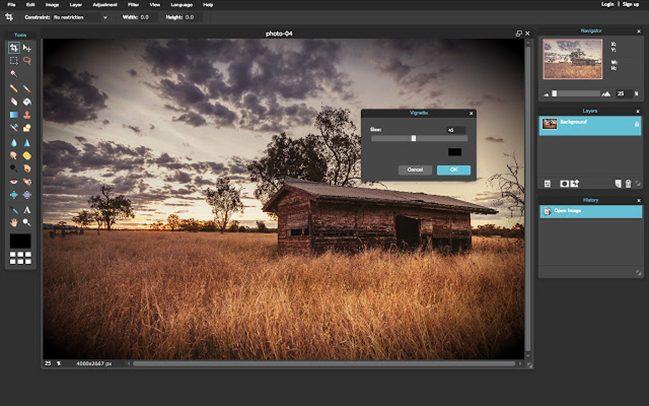 Pixlr Express - 10 phần mềm chỉnh sửa ảnh trên máy tính miễn phí