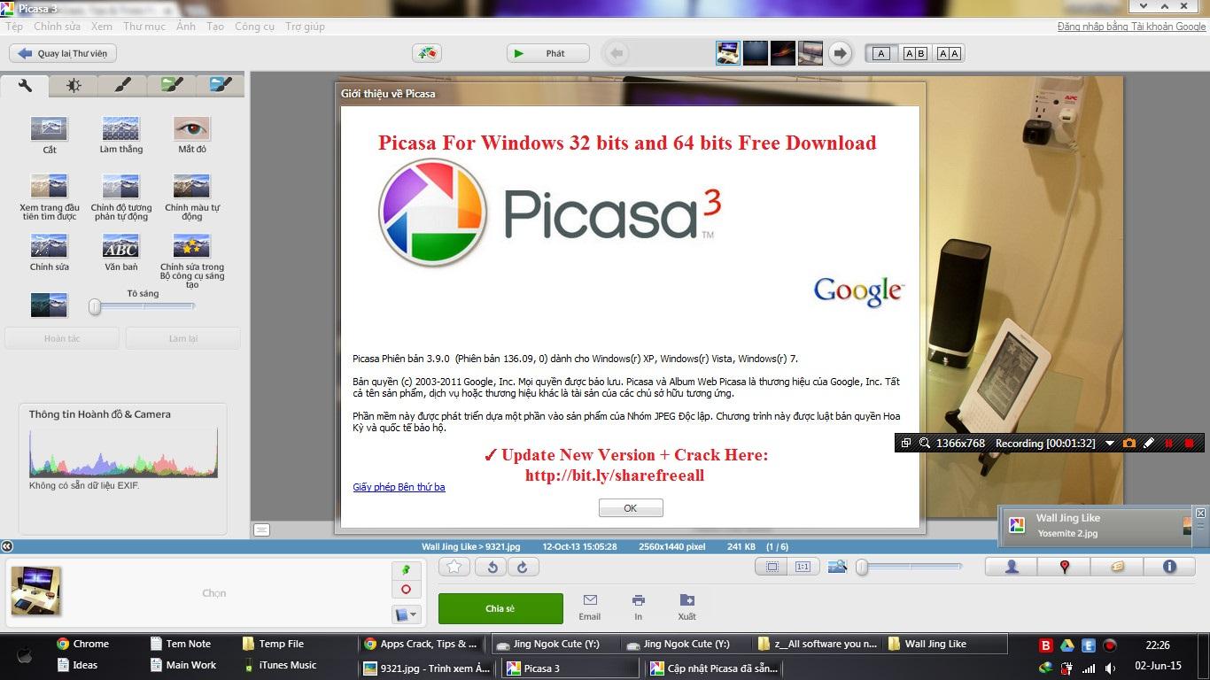 Picasa - 10 phần mềm chỉnh sửa ảnh trên máy tính miễn phí