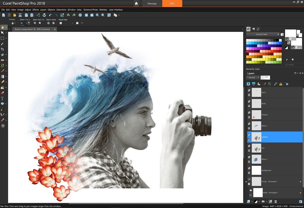 Corel PaintShop Pro - 10 phần mềm chỉnh sửa ảnh trên máy tính miễn phí