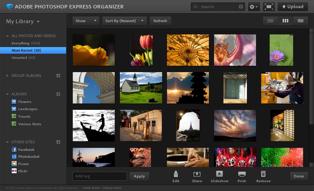 Photoshop Express Editor - Top những phần mềm chỉnh sửa ảnh online