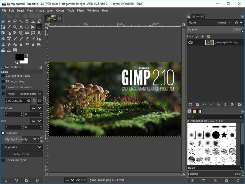 GIMP - 10 phần mềm chỉnh sửa ảnh trên máy tính miễn phí