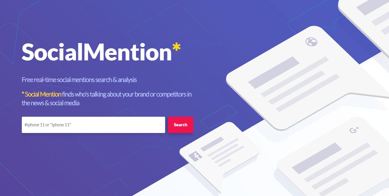 SocialMention – Công cụ cung cấp cho người dùng phép phân tích mạng xã hội