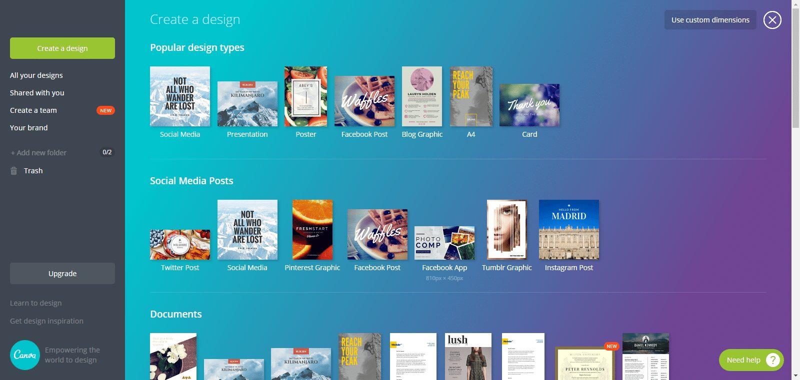 Canva - Top những phần mềm chỉnh sửa ảnh online