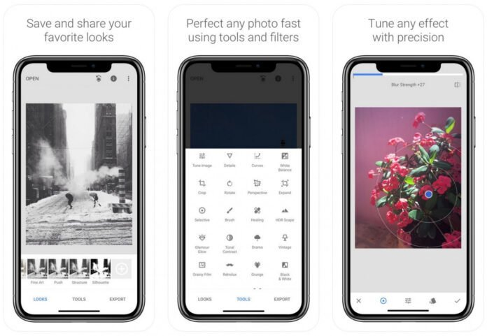 Snapseed - Top 5 phần mềm chỉnh sửa ảnh trên điện thoại miễn phí