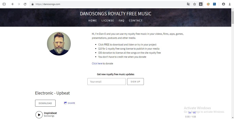 DanoSongs - website nhạc remix không bản quyền
