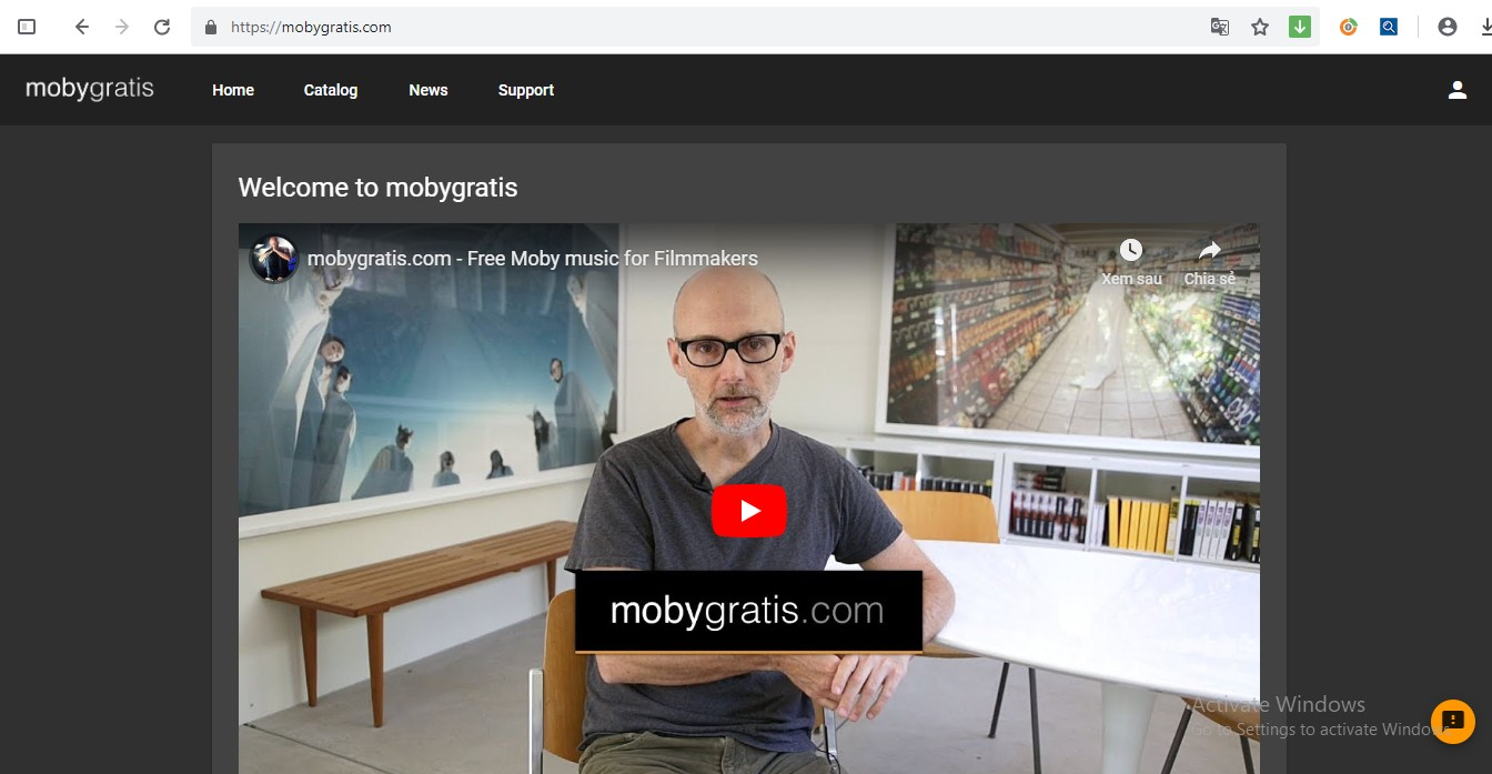 Moby Gratis - nguồn nhạc, video hài hước không bản quyền