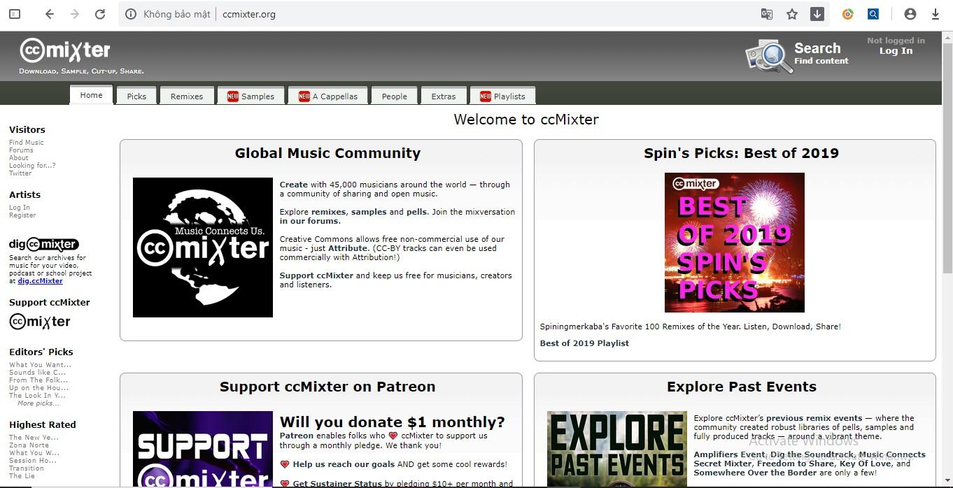 ccMixter – Cộng đồng chia sẻ nhạc hay không bản quyền