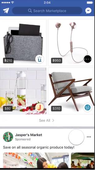 Video quảng cáo trên Facebook Marketplace