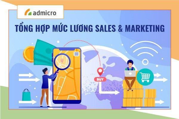 mức lương các vị trí marketing và sales