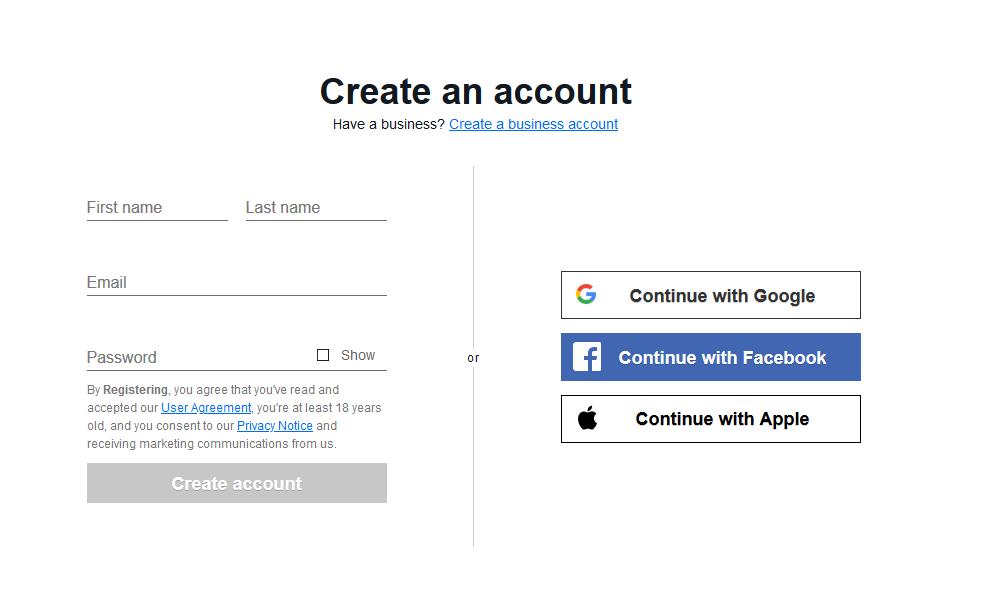 Cách đăng ký tài khoản bán hàng eBay đơn giản