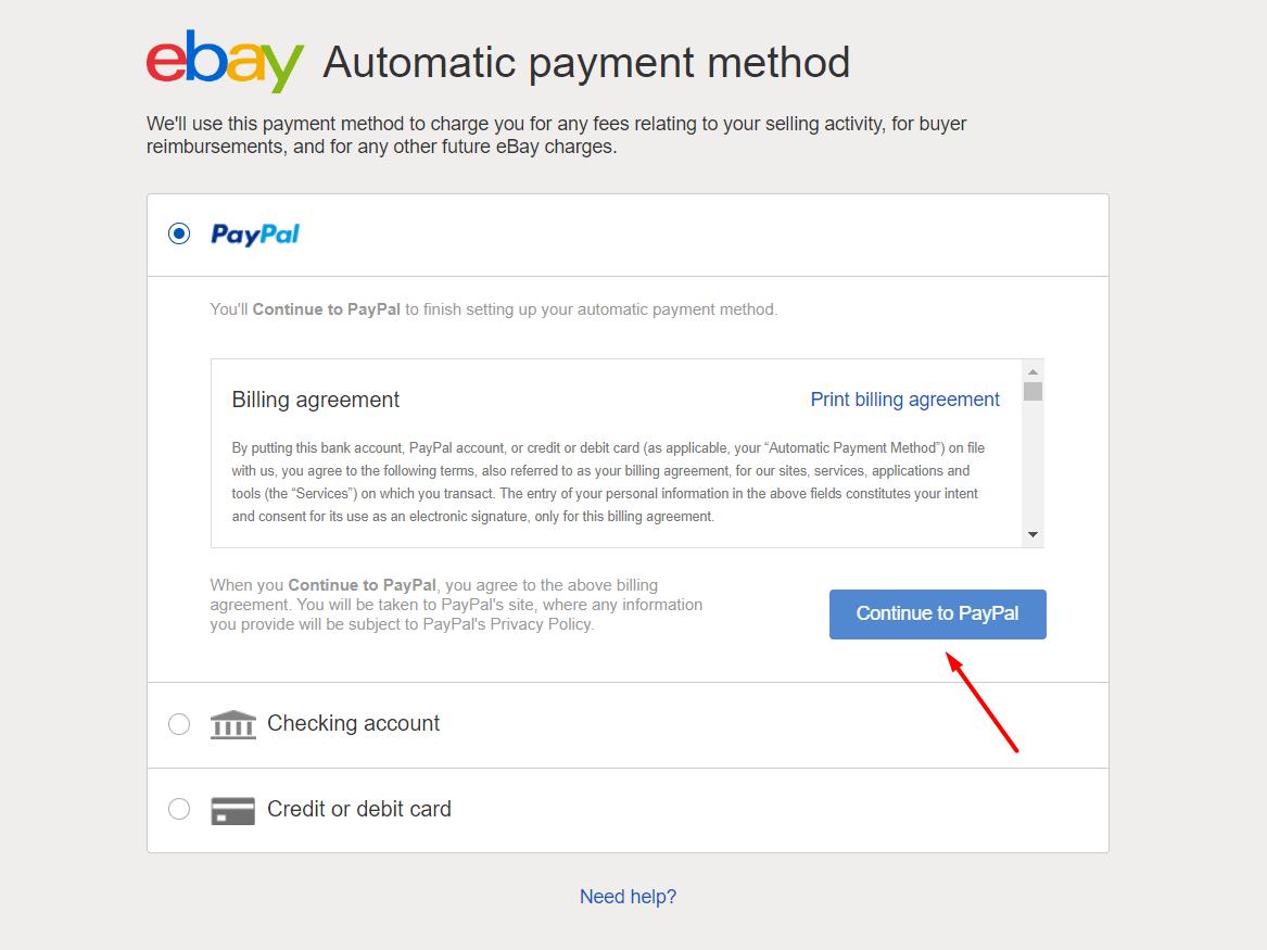 Cài đặt hình thức thanh toán Ebay 1