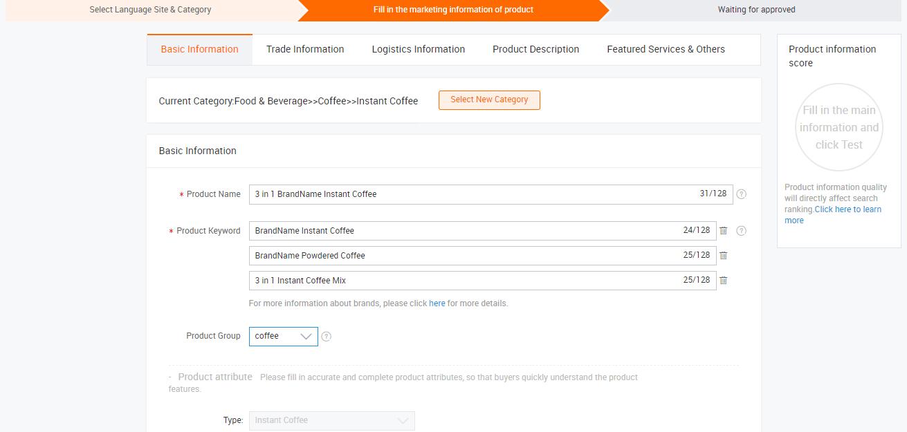 Cách đăng sản phẩm lên Alibaba 2