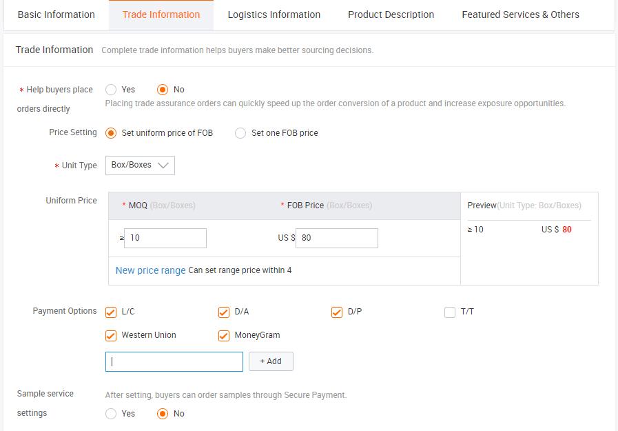 Cách đăng sản phẩm lên Alibaba 3