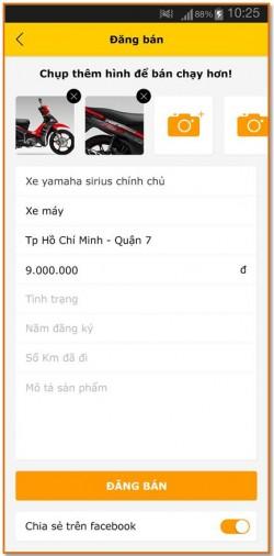 Quy trình đăng tin bán hàng trên Ứng dụng Chợ Tốt