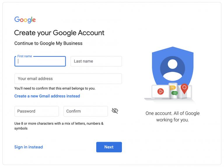 Cách thiết lập tài khoản Google My Business