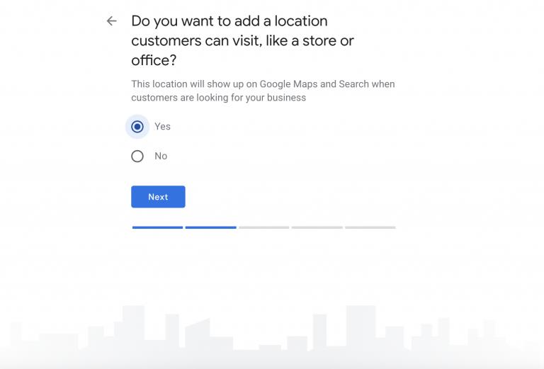 Nhập thông tin địa chỉ doanh nghiệp
